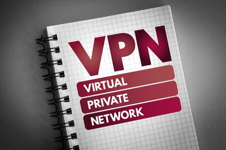 VPN - Virtual Private Network acronym, technology concept background 写真素材