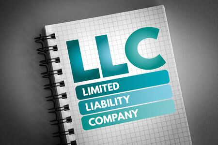 LLC - Limited Liability Company acronym, business concept