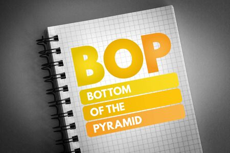 BOP - Bottom of the Pyramid acronym, business concept