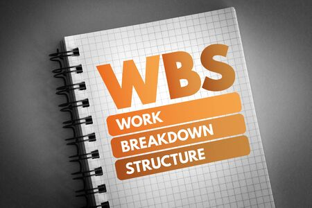 WBS - Work Breakdown Structure acronym, business concept background Фото со стока