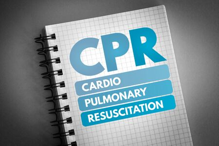 CPR - Cardiopulmonary Resuscitation acronym, medical concept background