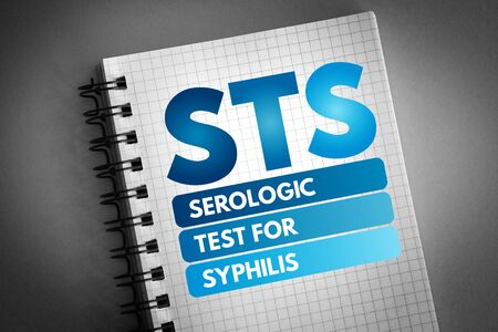 STS - Serologic Test for Syphilis acronym, medical concept background Stock fotó