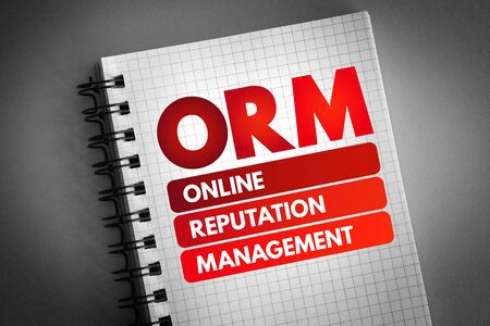 ORM - Online Reputation Management acronym, business concept background