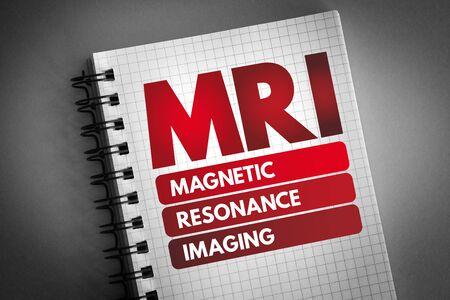 MRI - Magnetic Resonance Imaging acronym, medical concept background Zdjęcie Seryjne - 134213668