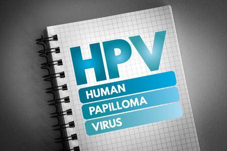 HPV - Human Papilloma Virus acronym, medical concept background