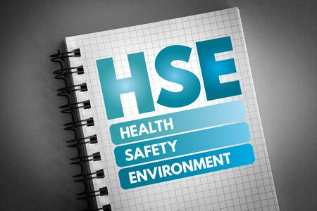 HSE - Health Safety Environment acronym, concept background 版權商用圖片