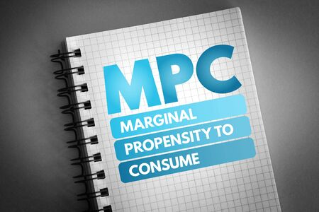MPC - Marginal Propensity to Consume acronym, business concept background