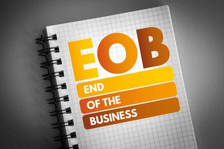 EOB - End Of the Business acronym, business concept background Stock fotó