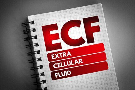 ECF - Extracellular fluid acronym, medical concept background