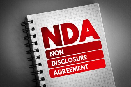 NDA - Non-Disclosure Agreement acronym, business concept background Stok Fotoğraf