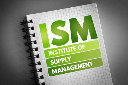ISM - Institute of Supply Management acronym, business concept background