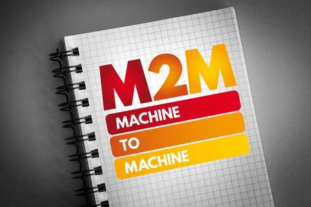 M2M - Machine to Machine acronym, technology concept background