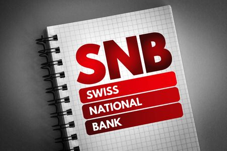 SNB - Swiss National Bank acronym, business concept background 版權商用圖片
