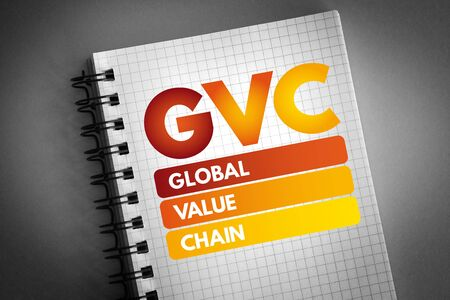 GVC - Global Value Chain acronym, business concept background 版權商用圖片