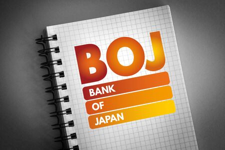 BOJ - Bank Of Japan acronym, business concept background 版權商用圖片