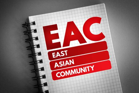 EAC - East Asian Community acronym, business concept background 版權商用圖片