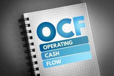 OCF - Operating Cash Flow acronym, business concept background