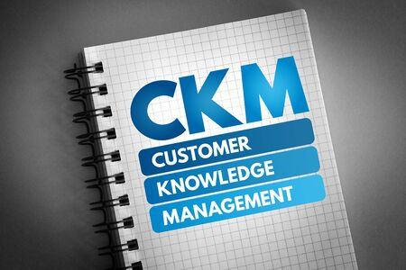 CKM - Customer Knowledge Management acronym, business concept background