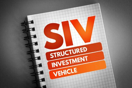 SIV - Structured Investment Vehicle acronym, business concept background 版權商用圖片