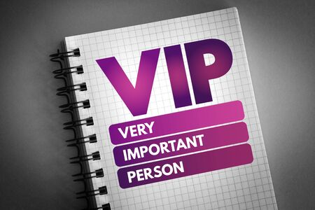VIP - Very Important Person acronym, concept background