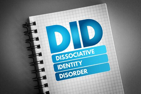 DID - Dissociative Identity Disorder acronym, medical concept background