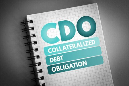 CDO - Collateralized Debt Obligation acronym, business concept background 版權商用圖片