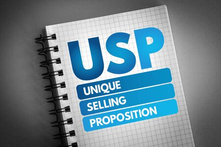 USP - Unique Selling Proposition acronym, business concept background