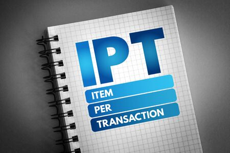 IPT - Item Per Transaction acronym, business concept background