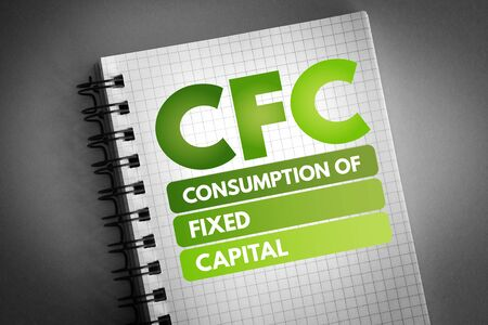 CFC - Consumption of fixed capital acronym, business concept background