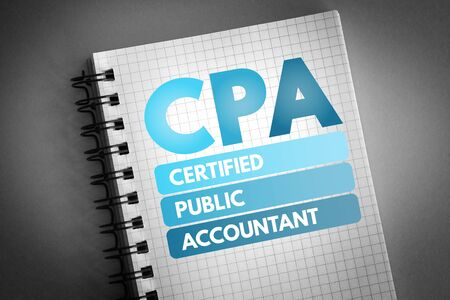 CPA - Certified Public Accountant acronym, business concept background 版權商用圖片