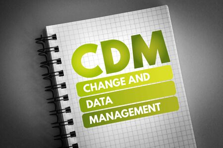 CDM - Change and Data Management acronym, business concept background