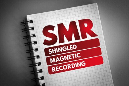 SMR - Shingled Magnetic Recording acronym, technology concept background