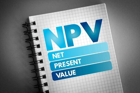 NPV - Net Present Value acronym, business concept background 版權商用圖片