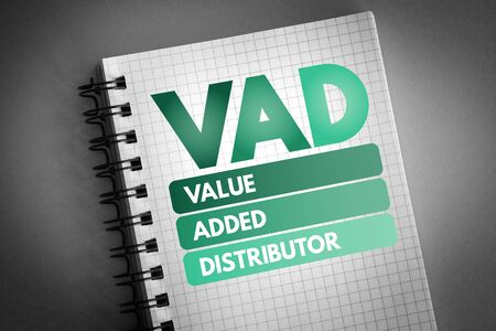 VAD - Value Added Distributor acronym, business concept background 版權商用圖片