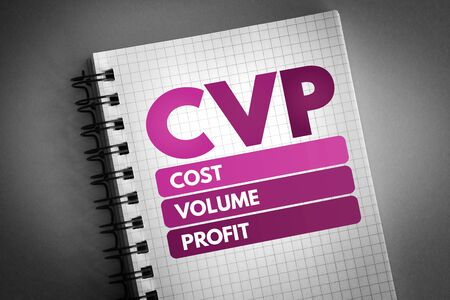 CVP - Cost Volume Profit acronym, business concept background