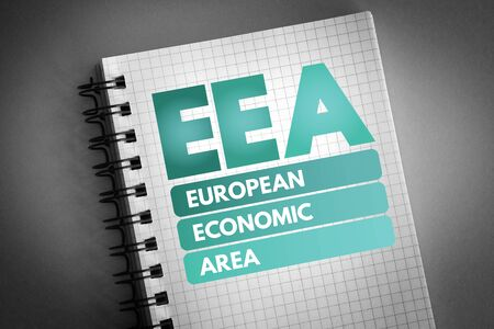 EEA - European Economic Area acronym, business concept background 版權商用圖片