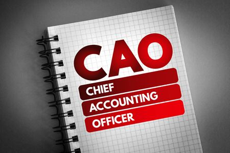 CAO - Chief Accounting Officer acronym, business concept background 版權商用圖片
