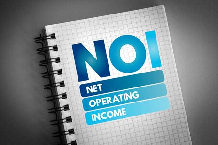NOI - Net Operating Income acronym, business concept background