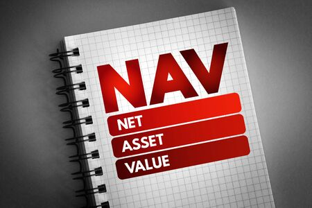 NAV - Net Asset Value acronym, business concept background 版權商用圖片