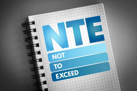 NTE - Not To Exceed acronym, business concept background 版權商用圖片