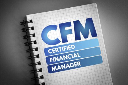 CFM - Certified Financial Manager acronym, business concept background 版權商用圖片