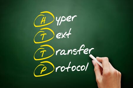 HTTP - Hyper Text Transfer Protocol acronym, technology concept background 版權商用圖片