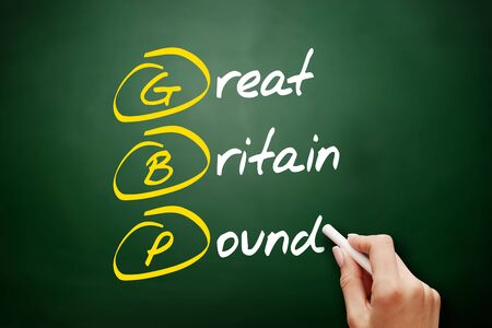 GBP - Great Britain Pound acronym, business concept background Stock fotó - 134858033
