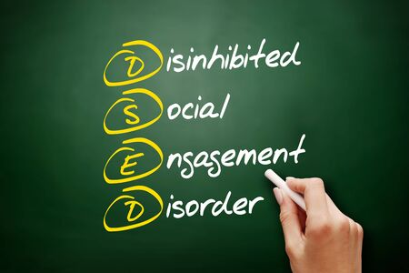 DSED - Disinhibited Social Engagement Disorder acronym, health concept background Foto de archivo - 134858052