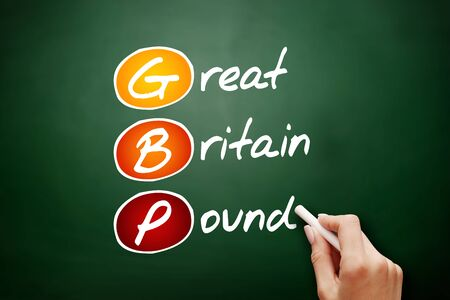GBP - Great Britain Pound acronym, business concept background