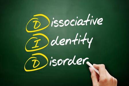 DID - Dissociative Identity Disorder acronym, health concept background Foto de archivo - 134858199