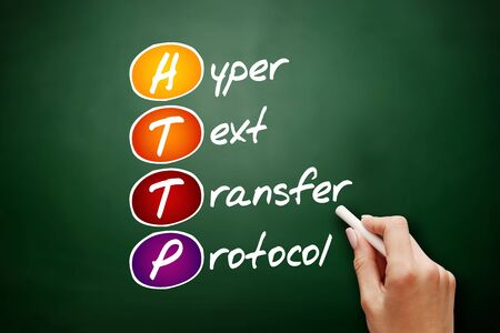 HTTP - Hyper Text Transfer Protocol acronym, technology concept background 免版税图像