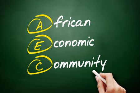 AEC - African Economic Community acronym, business concept background