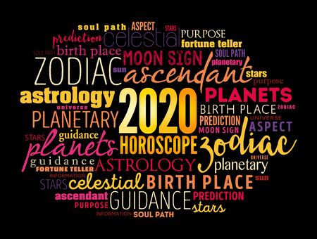 Your 2020 HOROSCOPE word cloud collage , concept background