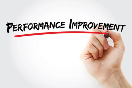 Performance Improvement text with marker, concept background